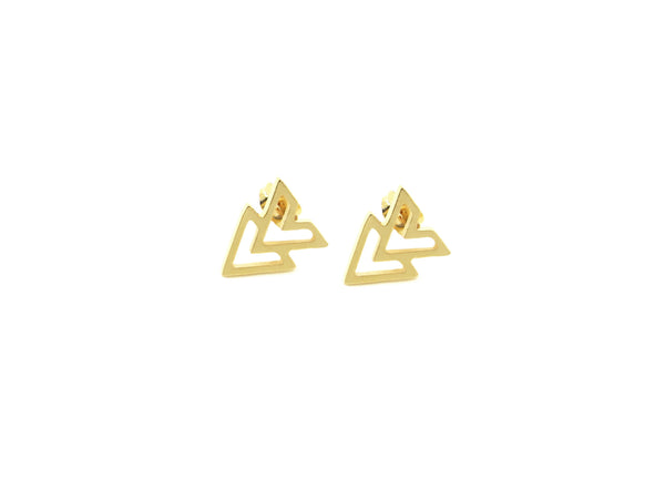 Chevron Earrings - Gold / Silver - themultistorey.co