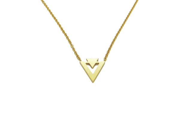 Double Triangle Necklace - Gold / Silver - themultistorey.co
