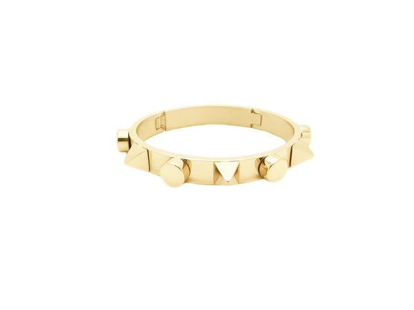 Talia Spikes Bangle - Gold (2 Sizes) - themultistorey.co