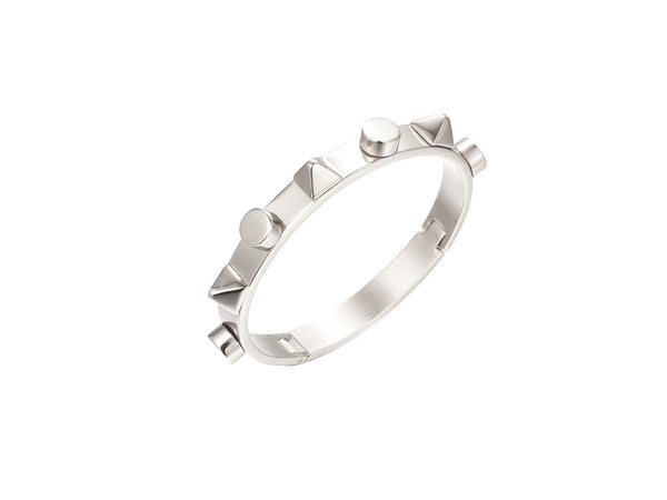 Talia Spikes Bangle - Silver (2 sizes) - themultistorey.co