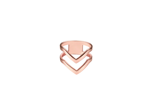 Chevron Ring - Rosegold
