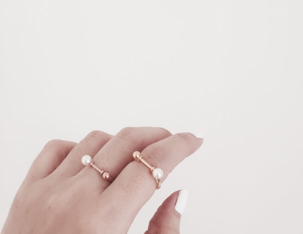 Chloe Pearls Ring - Gold/ Silver - themultistorey.co