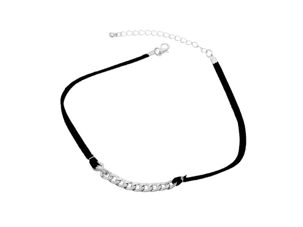 Choker with silver chain - themultistorey.co