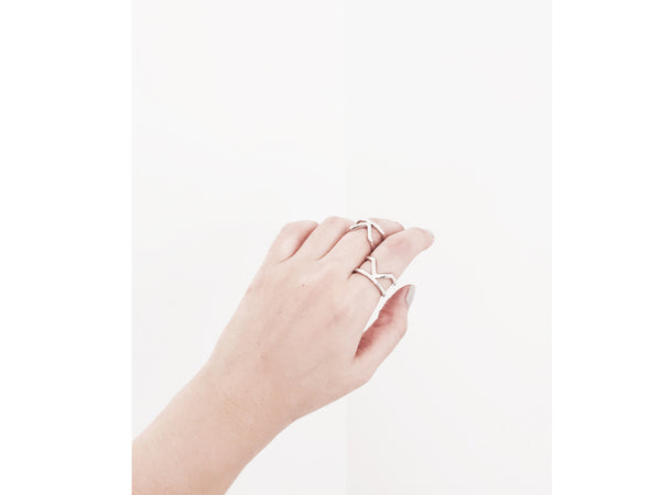 Elva Ring - Silver/ Rosegold - themultistorey.co