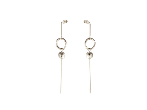 Georgia Long Earrings - Silver - themultistorey.co