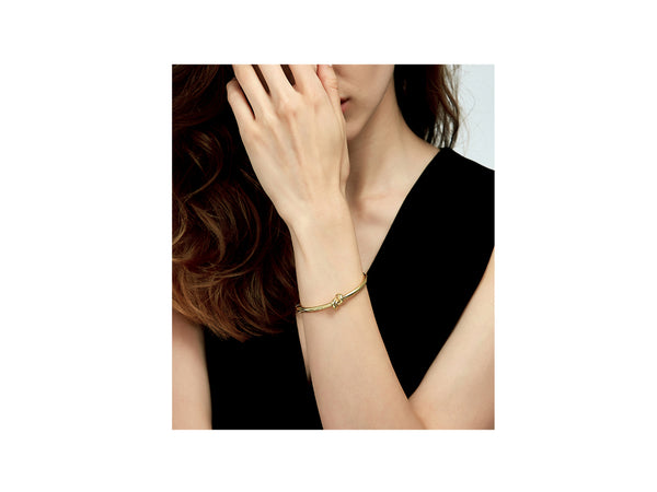 Gwen Knot Bangle - Gold - themultistorey.co