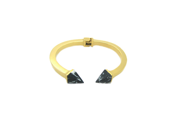 Kate Marble Bangle - Gold/Black Marble - themultistorey.co