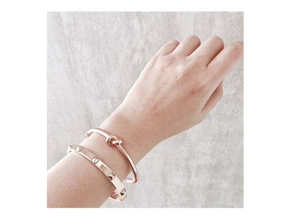 Gwen Knot Bangle - Rosegold - themultistorey.co