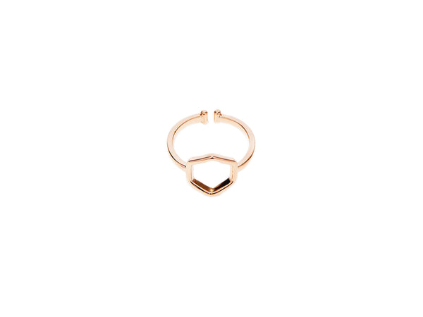 Hexagon Ring - Rosegold - themultistorey.co