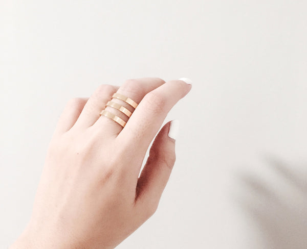 Lea Triple Ring - Gold - themultistorey.co