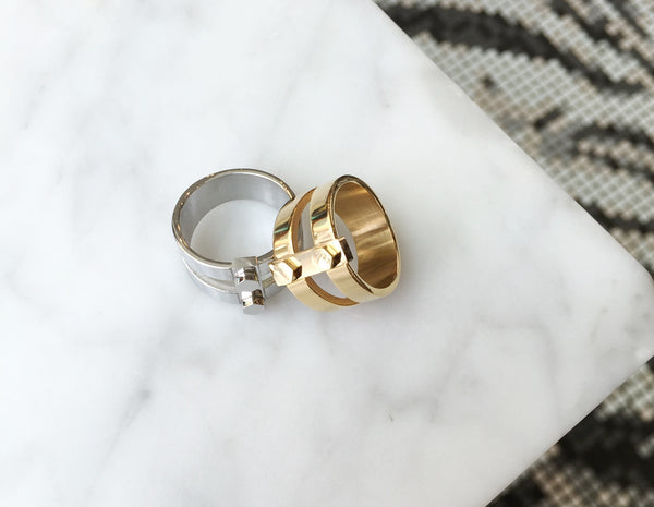 Hex Bolt Ring - Gold - themultistorey.co
