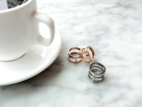 Lea Double Ring - Silver - themultistorey.co