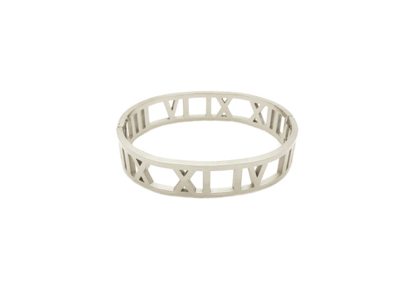 Roman Numerals Bangle - Silver - themultistorey.co