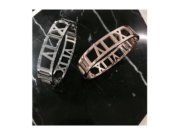 Roman Numerals Bangle - Gold - themultistorey.co
