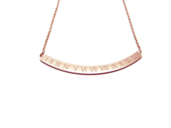 Roman Numeral necklace - Rosegold - themultistorey.co