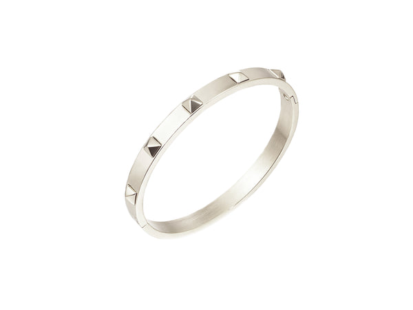 Talia Mini Spikes Bangle - Silver - themultistorey.co