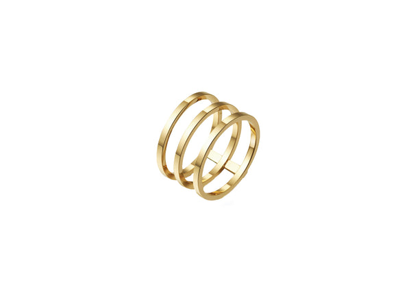 Lea Triple (Thin) Ring - Gold - themultistorey.co