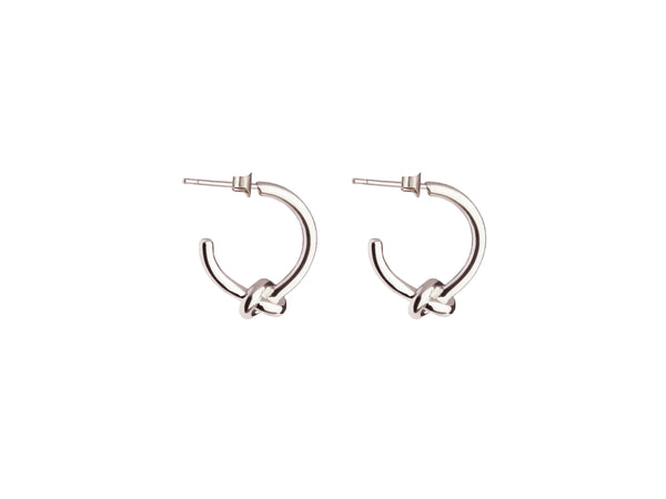 Small Knot Earrings - Silver - themultistorey.co