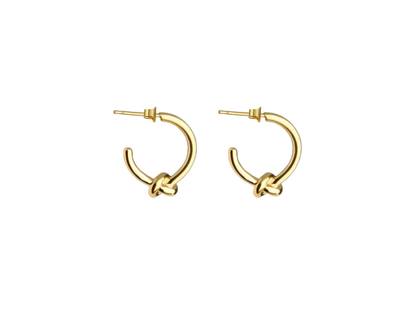 Small Knot Earrings - Gold - themultistorey.co