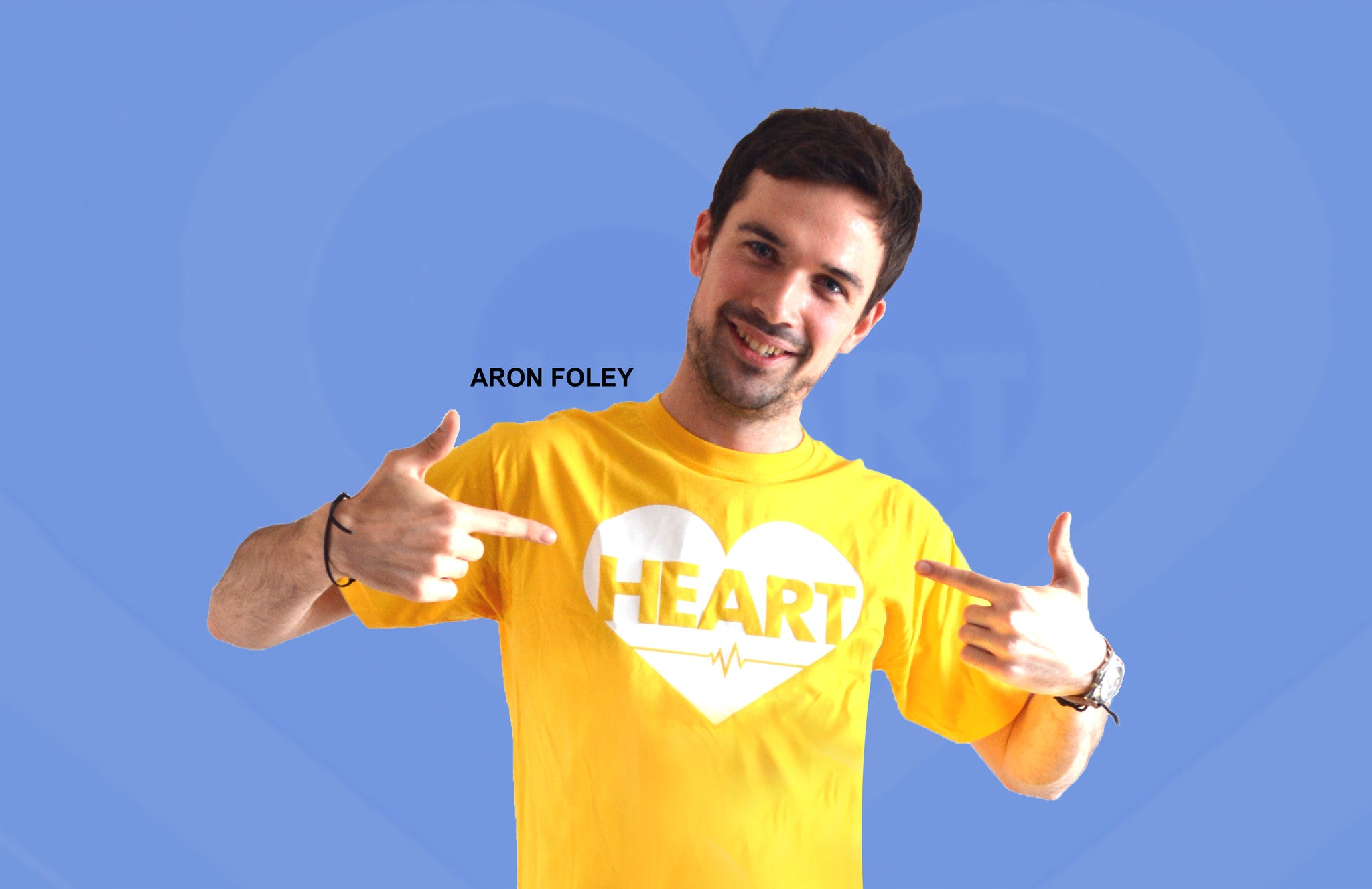 Heart on Chest T-shirt, Bright vibrant colors