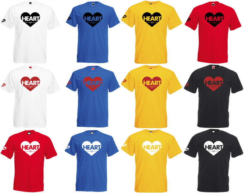 Heart on Chest (Primary colours) T-Shirt