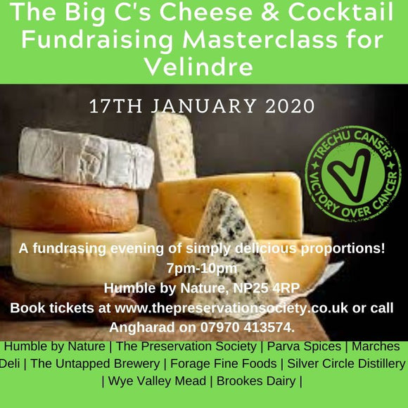 The Big C's - Cheese & Cocktail Masterclass Fundraiser for Velindre