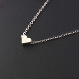 Tiny Heart Pendant Chain Necklace