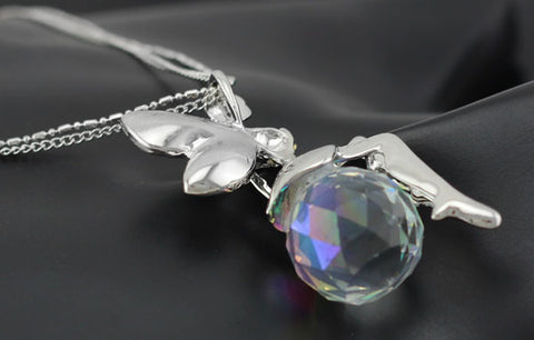 Austrian crystal angel fairy pendant seirosseca austrian crystal angel fairy pendant aloadofball Image collections
