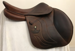 Item #DG46C - Bruno Delgrange 17.5, Full Calfskin, Very Grippy, 2014, Tree Suitable for More Muscular Horse
