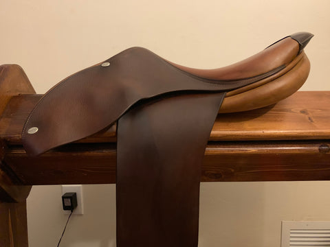 B998E - Butet Practice Saddle 16/17, Wider Tree Fit for Horse/Pony, Rental or Purchase (Rental Deposit with Option to Keep Saddle)