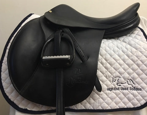 Item #DG45C - Bruno Delgrange 16.5/17 with Leathers and Royal Rider Lightweight Irons