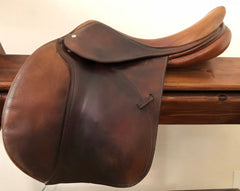 Item #DV87C - Devoucoux  Biarritz 17.5 Full Calfskin, Integrated Panels, Long Flap