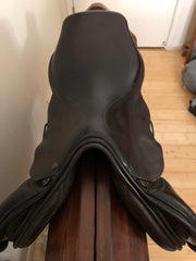 "Item #M167C - Equinefit 17"" Saddle, Very Good Condition, Wool-Flocked, Forward Flap, Regular Tree, 4 Billets for More Girthing Options, Retails $4,000 and up"