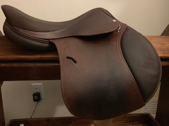"Item #AN103C - Antares 17"", Flap for Shorter Rider, **Buffalo** Seat/Knee Pads for Superior Grip, 2014, Excellent Condition"