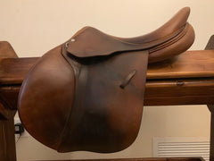"Item #LA1C - L'Apogée France (we're told made at same factory as Luc Childeric) 17"" Forward Flap with Leathers/Irons, New $4,195 and up"