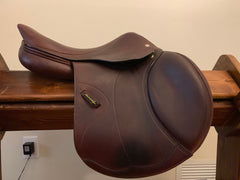 "Item #AR18C - Amerigo DJ Pinerolo Dream Package! Full Calfskin 17"", 2018, Nearly New, with Amerigo Leathers, HdR 5-Point Breastplate, Amerigo Leather Care Kit, Original Tags and More! Retail over $6,000 for package"