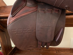 "Item #CW95C - CWD 16.5/17"" Extra-Long Flap (4L) Full Calfskin with Free Leathers and Irons, Beautiful Condition"