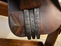 Item #AN110C - Antares Evolution 16.5/17, Super Grippy Upgraded Full Buffalo Leather Option, Fit for Wide Horse/Pony, DTA 50 Panels for Comfort, Excellent Condition, 2017, Retail in $6,000 range in this leather option