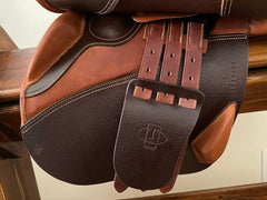 Item #TO3C - Tolga 17.5 Long/Forward Flap, (Made in Brussels, Compares to French Brands), Great Saddle for Taller Rider, New and Unused, 2018, Tree for TB Type, Retail up to $3,000 range, Champagne Taste/Beer Budget Unicorn