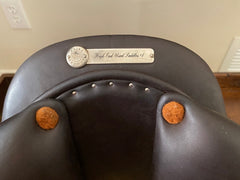 "Item #B996E - Butet Practice Saddle 17/18, 2018 Model, ""Cachou"" Darker Brown, Deep Seat, Rental or Purchase (Rental Deposit with Option to Keep Saddle)"