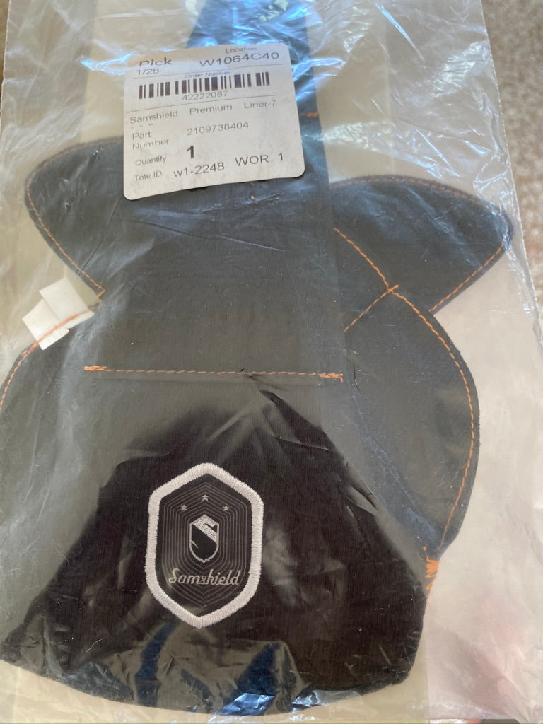 Item #SA1C - Samshield Premium Helmet Replacement Liner, Size 7 3/8 (59), New In Bag, Retail $56, Ours $25
