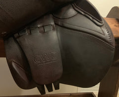"Item #CW87C - CWD 18"" 4L (Extra Long) Flap, Full Calfskin, 2014, TB-type fit for high-withered horse"