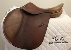 "Item #LC21C – Luc Childeric for Slender Long-Legged Junior, 16"" Long/Forward Flap with Free Leathers and Safety Irons"