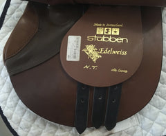 Item #M134C - Stubben Edelweiss NT Deluxe with Biomex Seat 16.5/17 - with Original $2625 Price Tag Still On