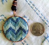 small pieces of textile art