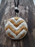 GOLD CHEVRON NECKLACE pendant