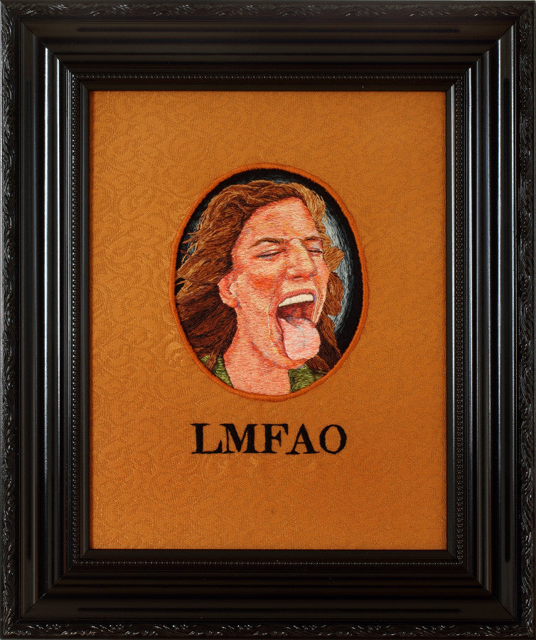 LMFAO by contemporary embroidery artist kathy halper