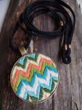 Multi-Colored Chevron Necklace