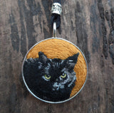 Custom Cat Portrait Necklace