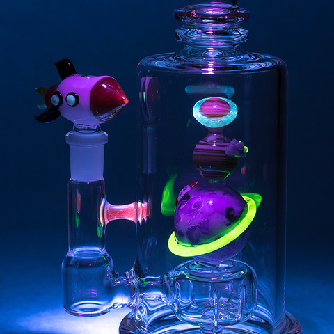 "Empire Glassworks - ""Galaxy"" UV Reactive Water Pipe"